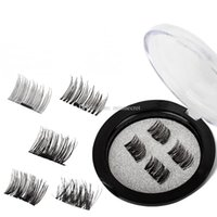 Wholesale magnet eye - 4 pcs pair Magnetic Eye Lashes 3D Mink Reusable False Magnet Eyelashes Extension 3d eyelash magnetic eyelashes eye make up dropshipping