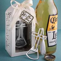 şişe açıcı güvercin toptan satış-Düğün hediyelik eşya Metal Çapraz, hindistan cevizi ağacı tarzı şişe açacağı Düğün Eşantiyon ve Parti Kapı Hediyeler şekeri