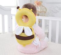 Wholesale wholesale nursing pillows - Baby Head Protection Pad Toddler Anti-falling Anti Fall Headrest Pillow Baby Neck Cute Wings Nursing Drop Resistance Cushion