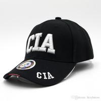 chapéus de exército de qualidade venda por atacado-Atacado- 2016 nova alta qualidade CIA carta bordado boné de beisebol moda lazer fãs do exército Snapback chapéus caminhadas Camping chapéu táticas