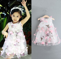 05192dc42f baby clothes Princess girls flower dress 3D rose flower baby girl tutu dress  with petal lace dress Bubble Skirt baby clothes