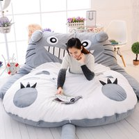 Wholesale totoro bed for sale - Double Man Sleeping Bag Huge Comfortable Totoro Cartoon Bed Mattress Mats Sofa Pad Tatami Personality Merry Christmas Gift lc bb
