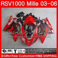 Wholesale fairing rsv for sale - Group buy Body For Aprilia RSV1000 R Mille RSV1000RR RSV1000 HM4 RSV R RSV R RSV1000R Factory red Fairing