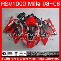 Wholesale aprilia rsv black fairing for sale - Group buy Body For Aprilia RSV1000 R Mille RSV1000RR RSV1000 HM4 RSV R RSV R RSV1000R Factory red Fairing