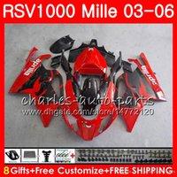 carenagem rsv venda por atacado-Corpo para Aprilia RSV1000 Mille RSV1000R RSV1000 RS 04 04 04 06 06 76HM4 RSV 1000 RSVR RSR 1000R RS 2003 2004 2005 2006 Fábrica vermelho Fairing