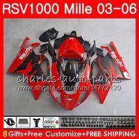 ingrosso rivestimento rsv-Corpo per Aprilia RSV1000 R Mille RSV1000RR RSV1000 03 04 05 06 76HM4 RSV 1000 R RSV 1000R RSV1000R 2003 2004 2005 2006 Carenatura rossa di fabbrica
