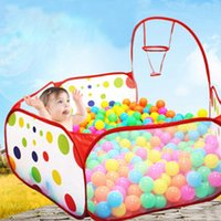 Wholesale baby games play for sale - Group buy Foldable Kids Play Game Ball Pit Polka Dots Play fencing for Children Indoor Tent Ocean Ball Pool Baby Educational Toy Playpen