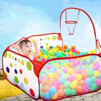 ingrosso bambini sfera palla-Pieghevole per bambini Gioca Gioco Ball Pit Polka-Dots Gioca a scherma per bambini Tenda da interno Ocean Ball Pool Baby educativo Toy Box