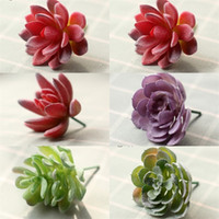 Wholesale garden plush resale online - Creative Artificial Succulent Plants For Indoor Home Office Decorative Flocking Fake Cactus Mini Garden Displayed Flower Decor Plant sy YY