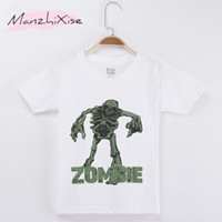 Wholesale zombies t shirt - 2018 Summer Children Clothing Horrible Zombie Kids T-shirt Top Cotton Boy Short T Shirts Baby Clothing Girl Clothes Teen Tee Child Shirt