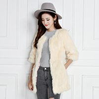 Wholesale Coat Clearance - 2017 autumn and winter new Korean ladies Slim fashion women's special clearance in the long section of rabbit fur coat