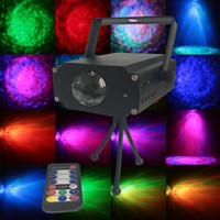 prix pour les lumières de la scène led achat en gros de-Prix usine IR À Distance Étape 9W RVB LED Eau Ondulation Ondulation Effet Étape Lumière Laser Projecteur Lumière De Noël Disco Événement Fête