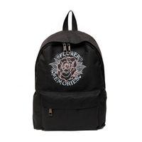 Wholesale Harajuku Bags Shoulder - 2017 New Harajuku Embroidery Peony Flower Backpack Memories Loved Preppy Style Canvas School Bag Women Black White Travel Shoulder Bag