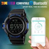 iphone remote kamera app großhandel-SKMEI Fernkamera Smart Watch Männer Schrittzähler Sport Uhren Anruf Nachricht APP Erinnern Smart Armband Für IOS Android Iphone 1245