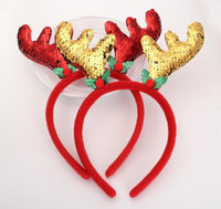 Wholesale christmas kid costume for sale - Group buy Christmas Elk Antlers Headband Hair Hoop Christmas Kids Headband Headwear for Christmas Costume Party Ears Decoration
