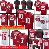 San Francisco 49ers 10 Jimmy Garoppolo 7 Colin Kaepernick Jersey Mens 16  Joe Montana 25 Richard Sherman 56 Reuben Foster Football Jerseys d39b90393