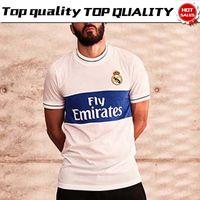 Wholesale icon shorts - Real Madrid white Icon Jersey 17 18 Real Madrid soccer shirt 2018 Soccer Jersey Football uniforms sales