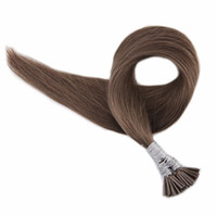 Wholesale per hair for sale - Group buy ELIBESS HAIR I Tip Human Hair Extensions g Per Strand Strands Extensions Medium Chestunt Color Stick Tip Hair