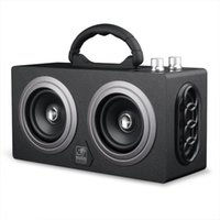 ingrosso altoparlante forte mp3-Altoparlanti Bluetooth senza fili di legno Grande scheda esterna portatile FM AUX Audio HIFI Altoparlante Hip Hop Altoparlante MP3 Loud Sound