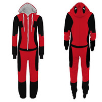 Wholesale deadpool costume adults online - New Deadpool Spiderman Homecoming Pajamas Adult Cartoon Flash man Jumpsuit Pyjamas Deadpool onesie Pajamas Cosplay Costume