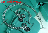 Wholesale Fashion Brand designer A A Tiffan925 Hot Sale New Women Luxury HEART Necklace Bracelet Earring Set with box