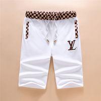 Wholesale Mens White Beach Pants - 2018 Luxury brand clothing Italy Men's Women's shorts pants letter printing clothing mens designer beach shorts black white 3XL