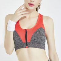 871ded73b7bee Women Sport Bra Quick Dry Zipper Shockproof Push Up Wide Shoulder Straps Yoga  Bras For Fitness Running Gym Vest Top