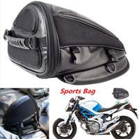 ingrosso moto della borsa della sella-Motocicletta Sport Sedile posteriore impermeabile Carry Bag Borsa posteriore Borsa da sella Bici da motocicletta Borsa da equitazione