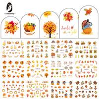 кленовый лист стикер оптовых-Christmas Snow Red Leaf Maple Tree Bear Vein Autumn Transfer Nail Art Sticker Decal Slider Manicure Wraps Tool Tips 12PCS