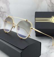 gafas de sol de flash al por mayor-Mujeres Gold Metal Pilot Sunglasses Gold Flash Mirror Sonnenbrille Eyewere Gafas de sol al aire libre nuevo en caja