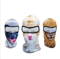 мотоциклетный капюшон оптовых-Мультфильм печати животных маски для лица летом на открытом воздухе спортивные защитные маски для лица смешная собака маска novely велосипед мотоцикл велосипедные маски