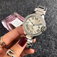 Wholesale pcs bracelet - A pcs lot New Fashion Style Women man Watch Lady silver Diamond wristwatch Steel Bracelet Chain Luxury lover Watch High Quality folding lock