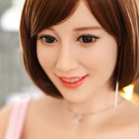 pecho sexual asiático al por mayor-Nueva moderna 3d 165cm Sex Doll Realistic Real Chinese para hombres Skeleton Big Breast Ass Natural Tan piel japonesa Asian Head Oral Sexy