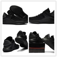 Wholesale Table Cat Box - Free shipping High quality 32s black cat Low mens Basketball Shoes man 32s Black Sports shoes Sneakers with box US 7-12