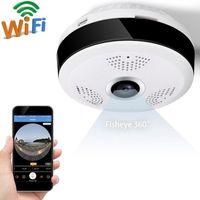Wholesale fisheye security camera - 360 Degree Wi-fi IP Camera FishEye HD 960P 1.3MP Smart Panoramic IPC P2P Wireless IP Fisheye Camera 2.0MP Security Wifi Camera