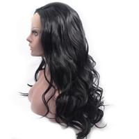 peruca cheia do cabelo do unprocess do laço venda por atacado-130% Densidade Cheia Do Laço Perucas de Cabelo Humano Malaio Virgem Do Cabelo Lace Front Wigs Humano Unprocess Cabelo Wevy perucas