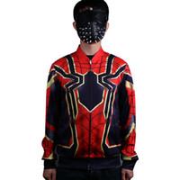 Wholesale Spiderman Jackets - 2018 Movie Avengers Infinity War Spiderman Cosplay Jacket Hoodie Cosplay Spiderman Costume Halloween Superhero Cosplay Props