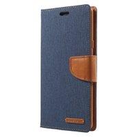 кожаные футляры для дневника оптовых-Меркурий GOOSPERY для Samsung Galaxy Note 9 телефон случае холст Дневник кожаный чехол с подставкой чехол для Samsung Note9 Coque Капа