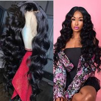 Wholesale wavy silk base wig for sale - 9A Grade Wavy Silk Base Wigs Glueless Silk Top Full Lace Wig Lace Frontal Human Hair Wig Body Wave With Baby Hair