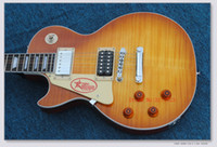 pastillas de guitarra oem string al por mayor-Guitarras para zurdos Jimmy Page Guitarra eléctrica Caoba al por mayor de China