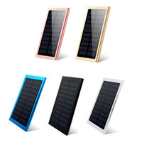 Wholesale universal portable battery for sale - Ultra thin Solar Power Bank mAh External Battery Portable Universal Cell Phone PowerBank Chargers For iphone IPAD Android Smartphone