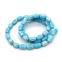 matériaux de bijoux faits à la main achat en gros de-En gros forme ovale perle 5x8mm 220 pcs bleu clair perle de verre de Murano pour la main bricolage collier bracelet fabrication de bijoux matériel