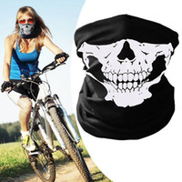 Wholesale skeleton face scarf - Halloween Skull Face Masks Skeleton Magic Skull Scarves Outdoor Sports Cap Neck Ghost Headband Cycling Motorcycle Bandanas BBA224 1000pcs