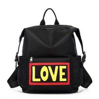 названия тканей оптовых-2 цвета выбрать имя дьявола водонепроницаемый Оксфорд ткань любовь мода рюкзаки школьные сумки дизайнер рюкзак сумка для путешествий и школы
