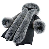 Wholesale Real Mink Fur Coats Women - Very Warm Real Fox Fur Coat Women Winter Mink Coat 2017 European Style Winter Women Long Parka Warm Female Outerwear