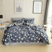 Wholesale Queen Size Sheets Cotton - Daisy printed bedding sets purple color twin queen size 100% cotton comfortable bedding sets bed sheet pillow case