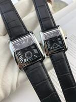 часы из розового золота для дам оптовых-2017 горячий режим модные часы для мужчин / женщин Леди кожаные часы серебро / розовое золото черный браслет наручные часы Марка женские часы бесплатная доставка
