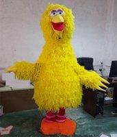 großes vogelkleid groihandel-2018 hochwertige heiße Sesame Street Big Bird Maskottchen Kostüm Erwachsene Cartoon Charakter Kostüm