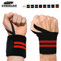 Wholesale weight lifting wrist support wraps - 2Pcs Gym Hand Wraps Wrist Strap Weight Lifting Wrist Wraps Gloves Crossfit Dumbbell Powerlifting Wrist Support Sport Wristband