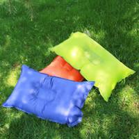 almohadas de aire para acampar al por mayor-3 estilos de Almohada de Camping Inflable Almohada de Aire Comprimible al aire libre Mochilero Senderismo Viajes de Playa Almohada de Coche suministros de camping FFA1044